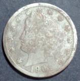 America SUA 5 cents 1901, America de Nord