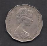 Australia 50 cent 1980, Australia si Oceania