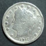 America SUA 5 cents 1911, America de Nord