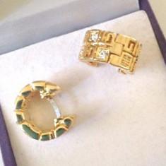 Cercei rotunzi VERSACE -placati cu aur galben 18k si cristale swarovski