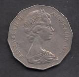 Australia 50 cent 1972, Australia si Oceania