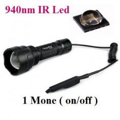 Lanterna infrarosu C8 cu focalizare reglabila  cu Led IR 940nm OSRAM - 1 Mode