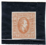 Romania  1865     A.I.CUZA         2    parale       ne stampilat   (A ), Regi, Nestampilat
