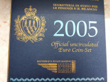 San Marino  set EURO 2005-Contine si 5 euro 2005 Ag 925, Europa