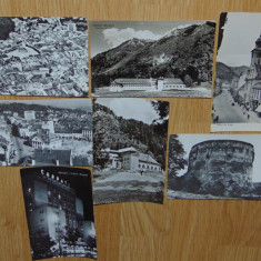LOT 7 CARTI POSTALE BRASOV, Circulata, Fotografie, Romania de la 1950