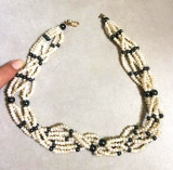 Colier dama-VINTAGE ,perla semipretioase, PERLE de cultura-lantisor
