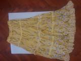 Fusta imprimeu floral Vero Moda floral skirt yellow purple flowers S, Galben, Vero Moda