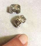 Cercei rotunzi dama- VERSACE -placati cu aur alb 18k si cristale swarovski