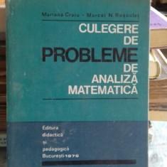 Culegere de probleme de analiza matematica - Mariana Craiu si N. Rosculet