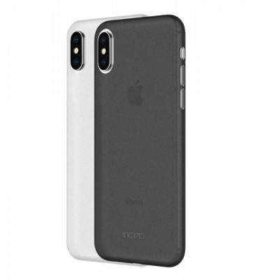 Set huse iPhone X/Xs INCIPIO Feather Light Negru/ Alb foto