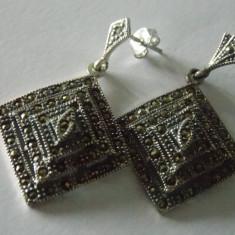 Cercei argint cu marcasite -103