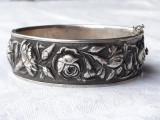 BRATARA argint DEPOSE art nouveau FRANTA 1900 manopera EXCEPTIONALA splendida