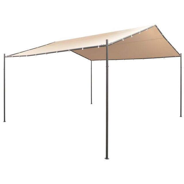 Pavilion foi?or cort baldachin, 4 x 4 m, o?el, bej