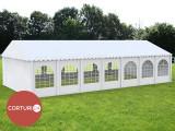 7X14 M CORT de EVENIMENTE PROFESSIONAL PVC 550g/m² ignifug alb inaltime 2,6m