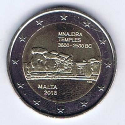 moneda 2 euro comemorativa MALTA 2018, UNC foto