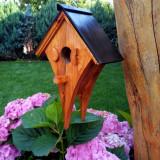 Casuta din lemn de pin pentru pasari