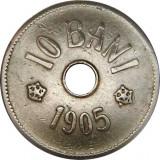 ROMANIA, 10 BANI 1905 * cod 43.7.18, Alama