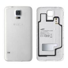 Pachet Capac spate Samsung Galaxy S5 G900F original gold albastru + folie sticla