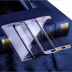 Geam Samsung Galaxy S6 edge plus negru + folie sticla curbata