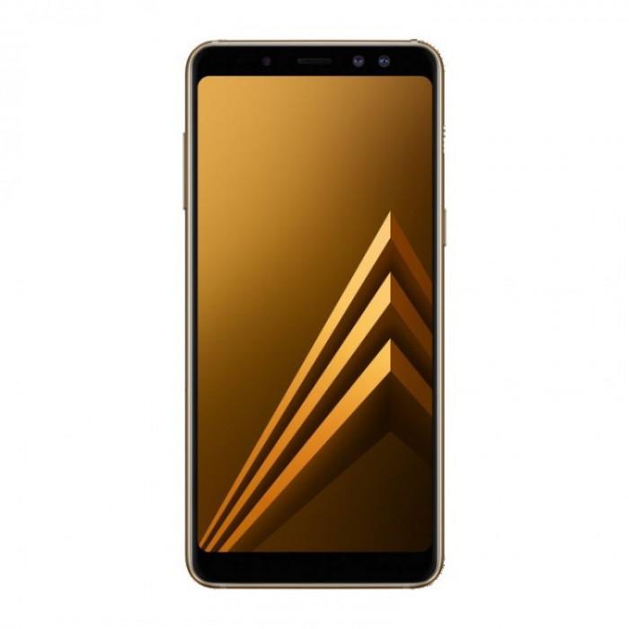 Smartphone Samsung Galaxy A8 2018 , Dual Sim , 5.6 Inch Full HD , Super AMOLED , Octa Core , 32 GB , 4 GB RAM , Retea 4G LTE , Android Nougat , Gold foto mare