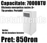Aparat de Aer Conditionat Portabil Mobil A  7000 BTU + Kit Instalare Fereastra, 9000 BTU, Inverter