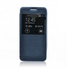Husa Samsung Galaxy Ace 4 G357 albastra Flip Carte S-View Etui