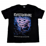 Tricou Rock 180gr. Iron Maiden - Ghost Of The Navigator, L