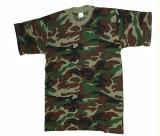Tricou - militar - camuflaj woodland, XXXL, XXXXL, Maneca scurta