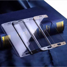 Geam Samsung Galaxy S6 edge plus auriu + folie sticla curbata