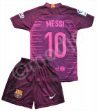 Compleu Echipament Fotbal FC BARCELONA MESSI MODEL 2018-2019  pentru copii 12-15, YXL, YXXL, Set echipament fotbal