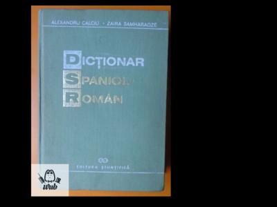Dictionar spaniol - roman Al Calciu, Zaira Samharadze foto