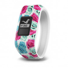 Bratara Fitness Garmin Vivofit Junior Real Flower