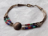 BRATARA argint NAVAJO tribala AMERINDIANA splendida DE EFECT superba STERLING