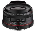 Obiectiv Foto Pentax HD DA 15mm F/4 ED AL Limited Black