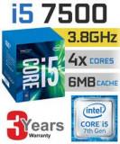 Procesor Intel i5-7500, 3.4GHz/3.8GHz, 6MB, SOKET 1151, nou, garantie, Intel Core i5, 4