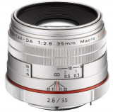 Obiectiv Foto Pentax HD DA 35mm F2.8 Macro Limited Silver