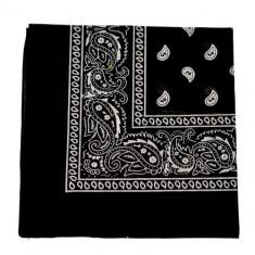 Bandana floral - negru