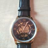 Ceas Mecanic-Automatic Sewor Barbatesc Elegant , Culoarea Negru/Auriu,NOU