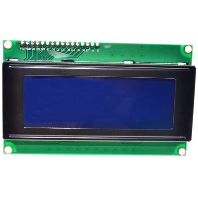 display ecran lcd 2004 20*4 20X4 5V backlight albastru blue iic i2c spi arduino foto