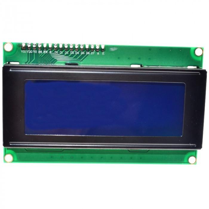 display ecran lcd 2004 20*4 20X4 5V backlight albastru blue iic i2c spi arduino