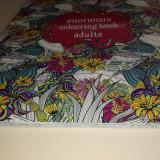 Carte de Colorat pentru Adulti si Copii Flori si Abstract Format imens 42cm