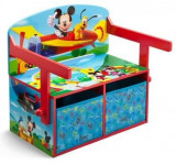 Mobilier 2 in 1 pentru depozitare jucarii Disney Mickey Mouse, Delta Children