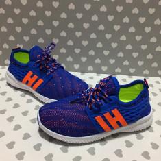 Adidasi albastri colorati din textil comozi tenisi sport fete baieti 31 32 33