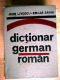 J. Livescu, E. Savin - Dictionar german-roman