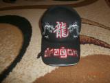 Sapca noua cu dragoni fara eticheta, Marime universala, Negru