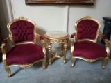 Mic salonaș in stil francez fotolii pentru copii și măsuța