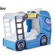 Pat camion DUO SCANIA+2 Albastru, MyKids
