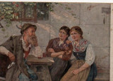 Vedere  din  Munchener - pictura, Germania, Necirculata, Fotografie