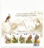 BELGIA 2010-PASARI-BUZIN-Colita cu 5 timbre tematica pasari nestampilata mnh