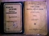 Georgiu Plopu - Parti alese din dreptul privat ungar {2 volume, 1923-1929}